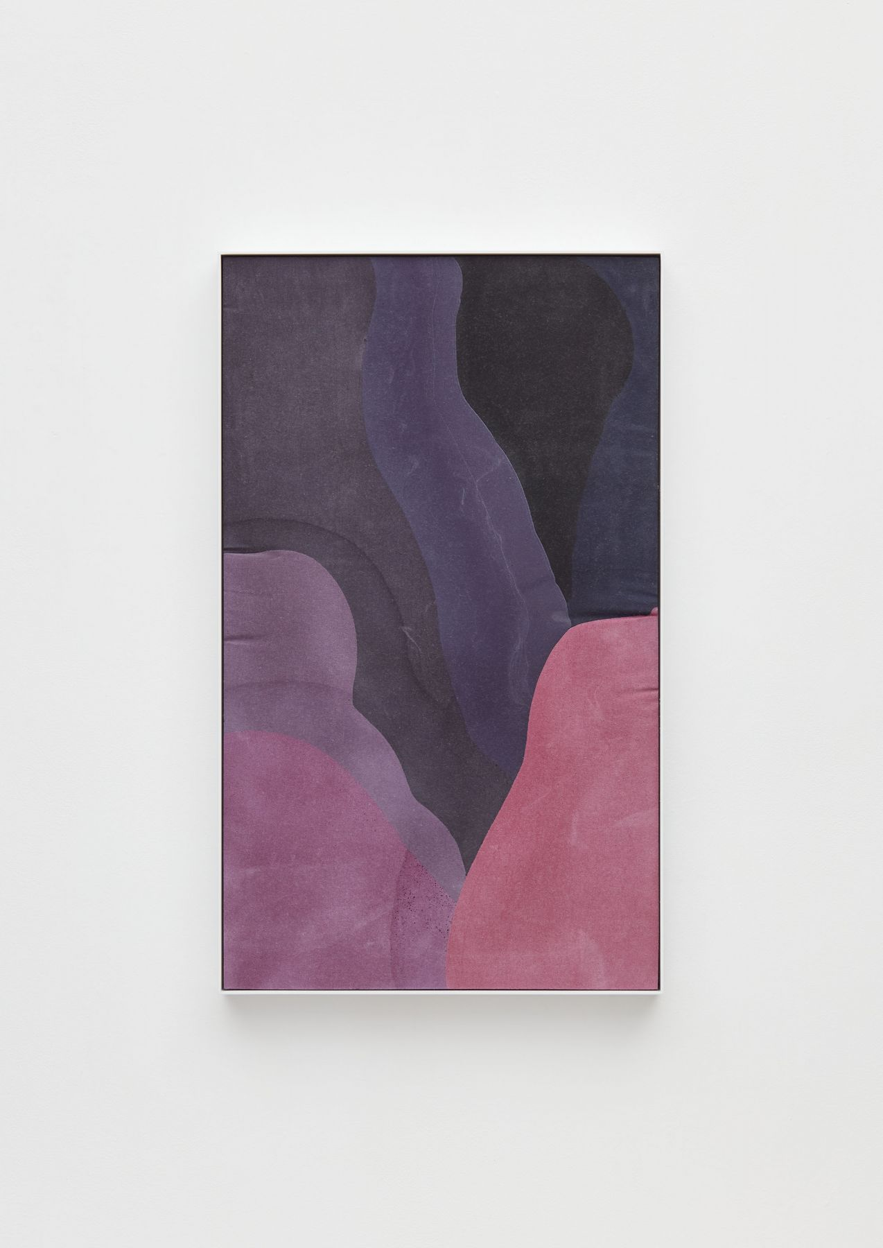 a purple abstract curving painting by the contemporary artist anthony pearson