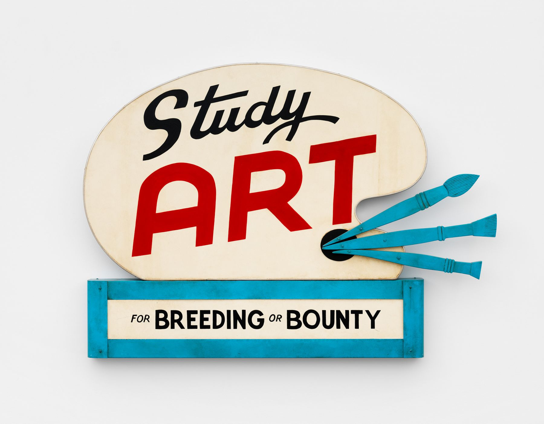 Study Art for Breeding or Bounty sign made by the artist John Waters