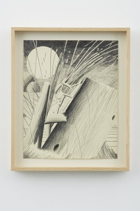 Jonah Spewed From the Whale #2, 2012, Graphite on paper