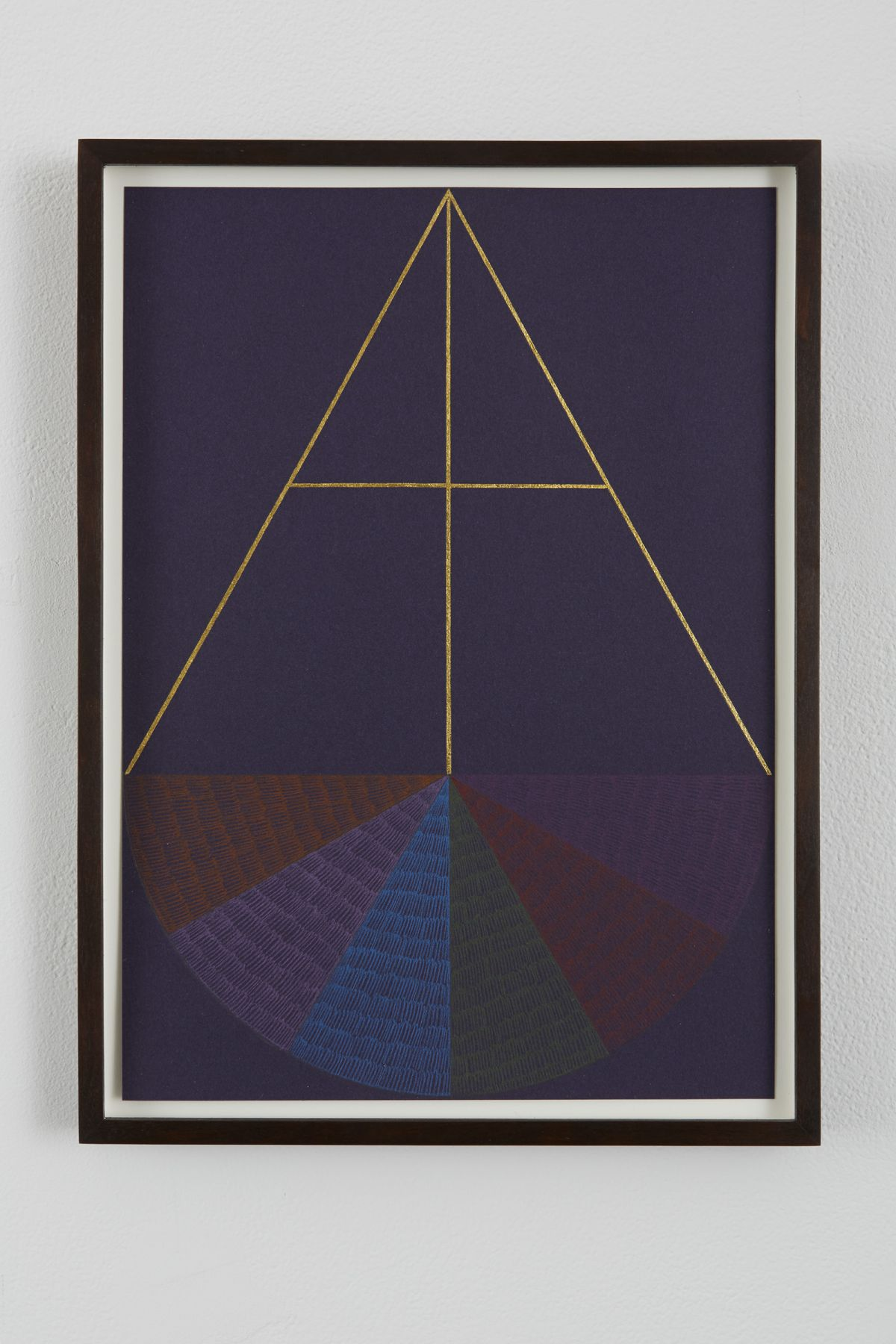 Untitled, 2013, Gold leaf, color pencil on paper