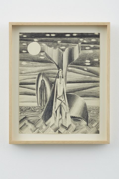 Jonah and the Whale #2, 2012, Graphite on paper