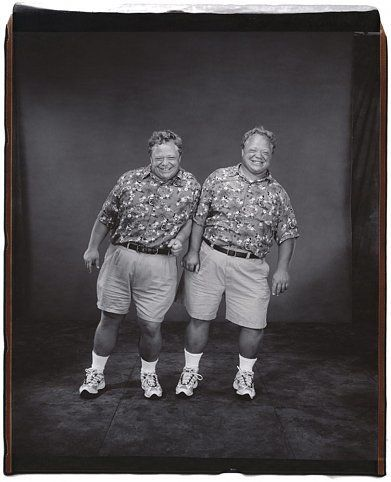 Jim and Jeff Thiel (from the Twins Series), 2001, 	Unique polaroid