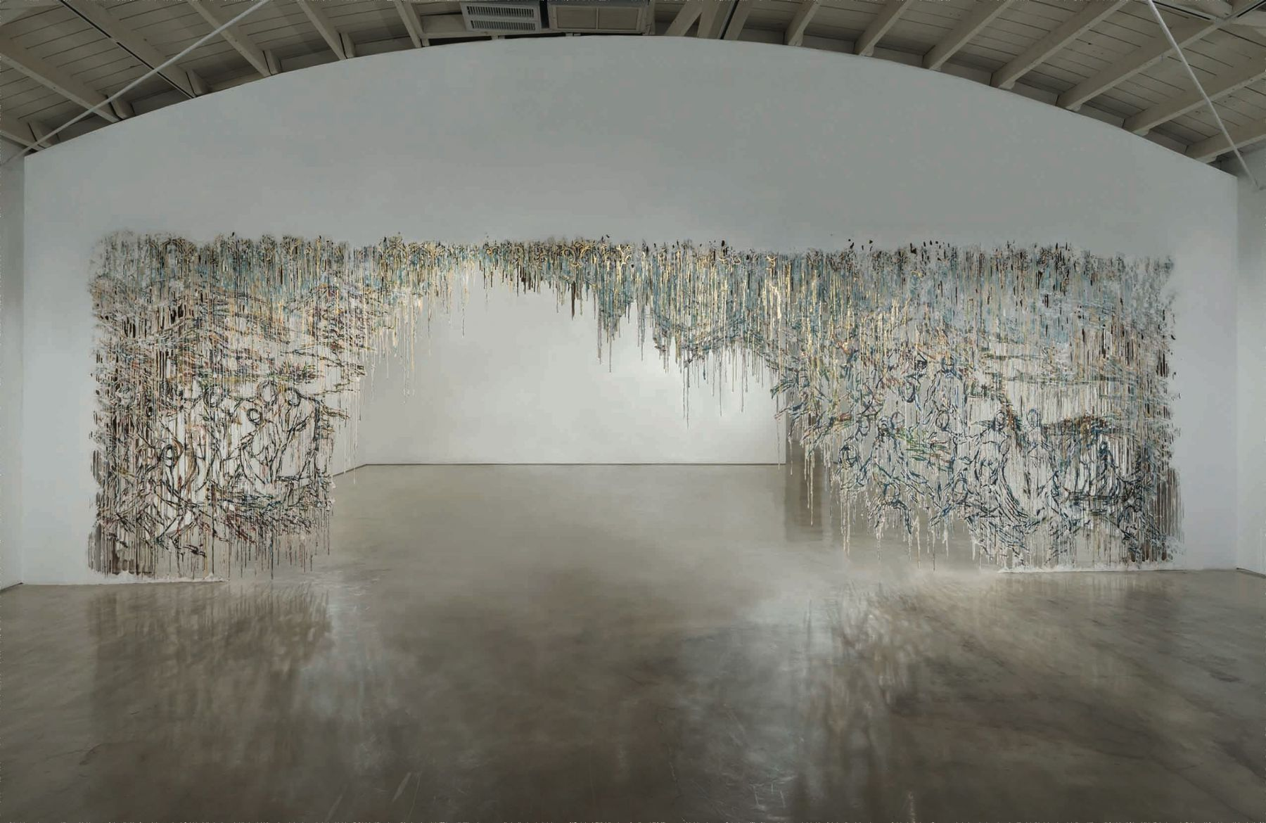 a work of art by Diana Al-Hadid on view in a museum exhibition