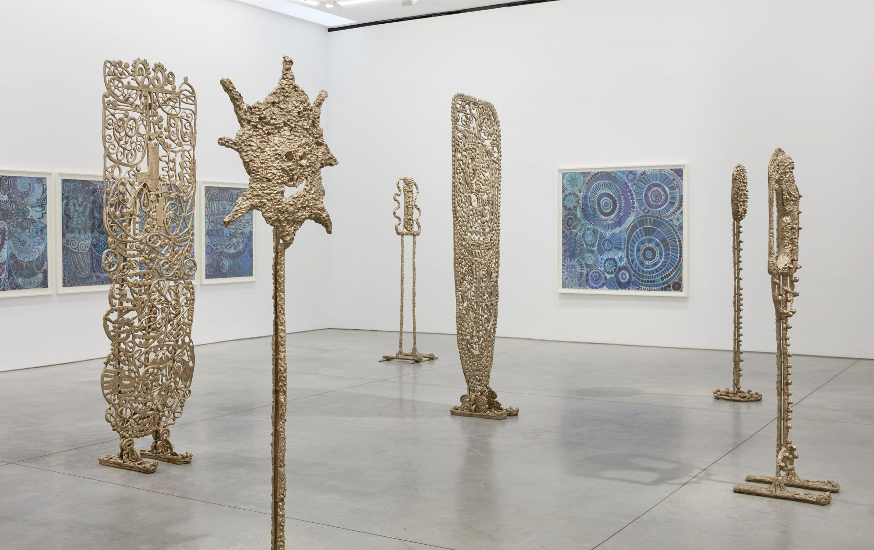 an exhibition of the bronze sculptures of william j. o'brien at a contemporary art gallery