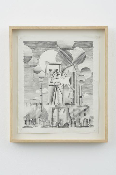 Factory Preacher, 2012, Graphite on paper