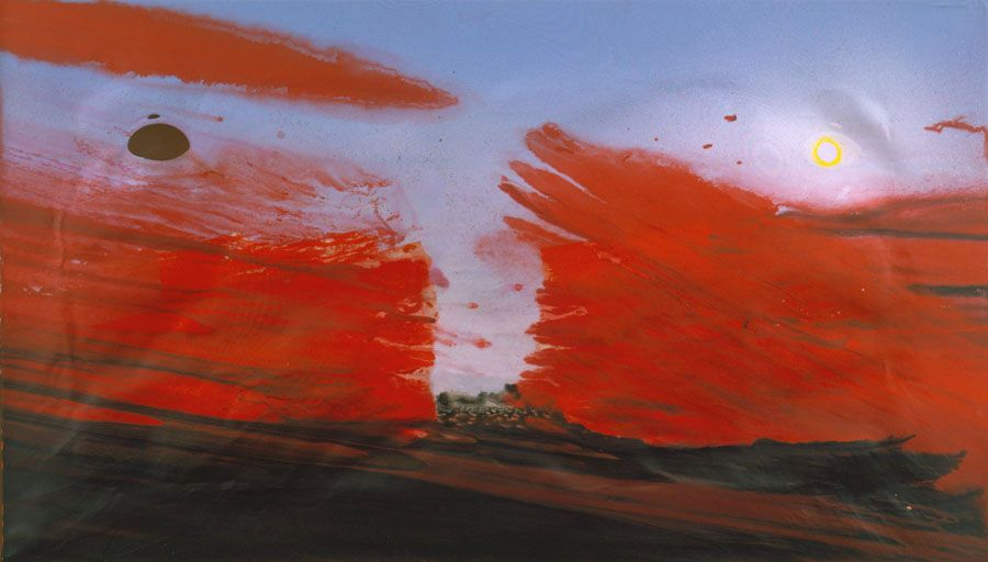 painting with bloody water by barnaby furnas