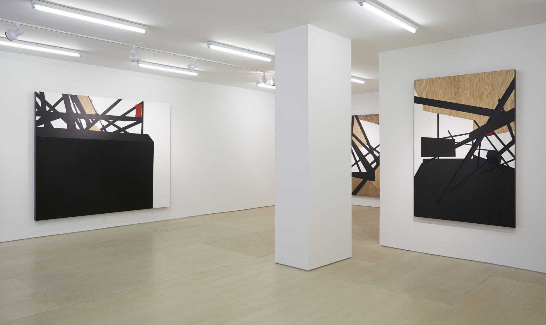 Morphings in BLACK (Installation View), BOESKY EAST, 2014