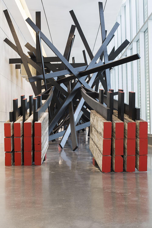 installation art by serge alain nitegeka on display at scad museum of art