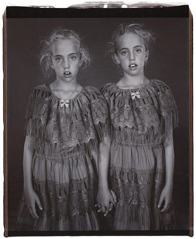 Heather and Kelsey Dietrick (from the Twins series), 2002, 	Unique polaroid