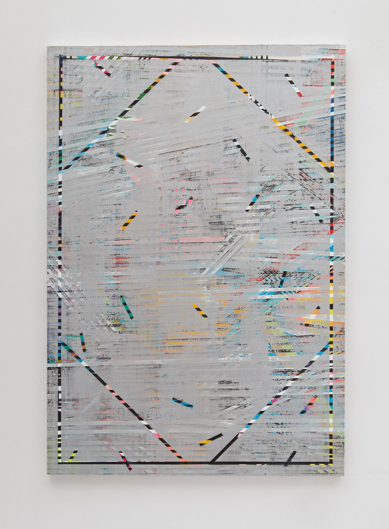 conceptual painting by Julia Dault in a New York City gallery