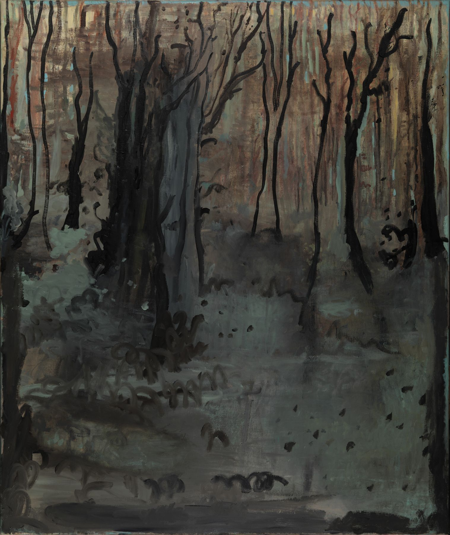 a landscape painting of a forest by Dutch artist Hannah van Bart