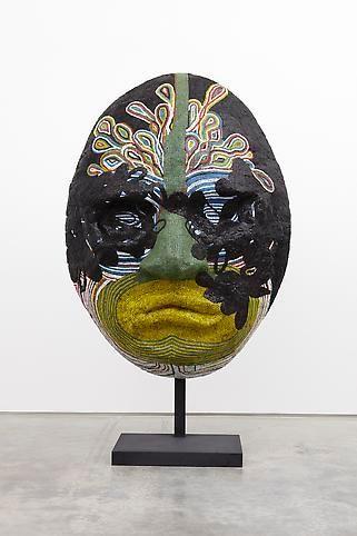 Mask Vision, 2009, Wood, fiberglass, glass tile, silicone, steel base