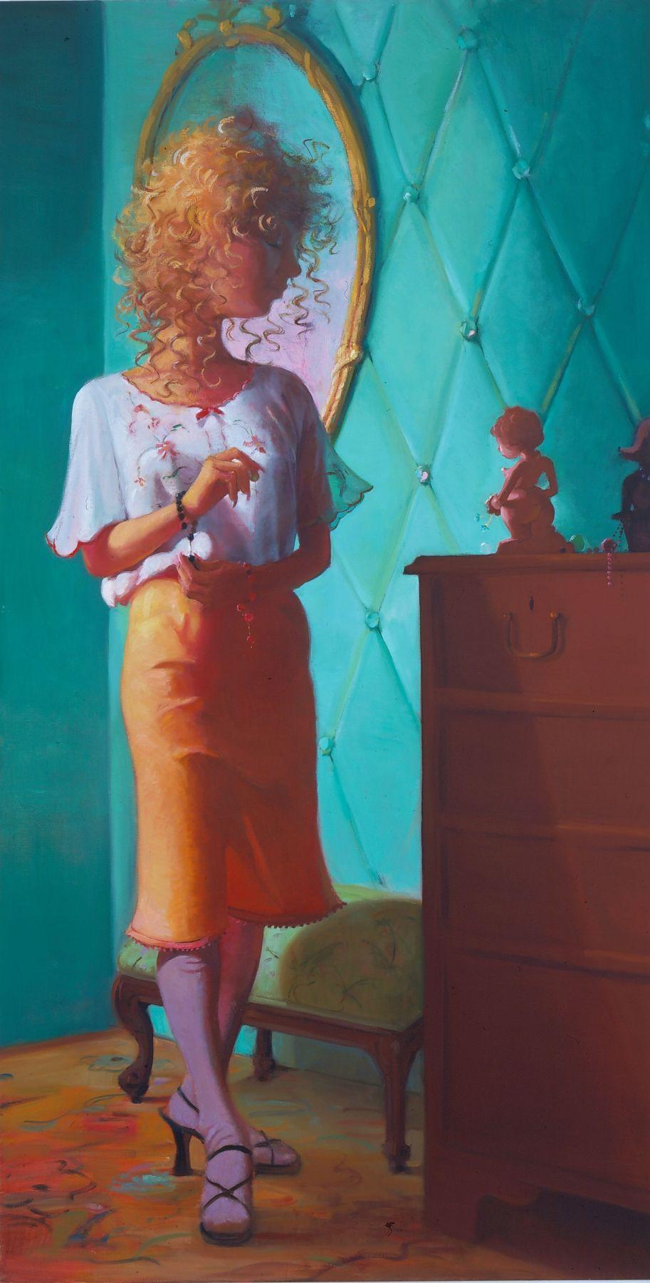 Curlie G., 2003, Oil on linen