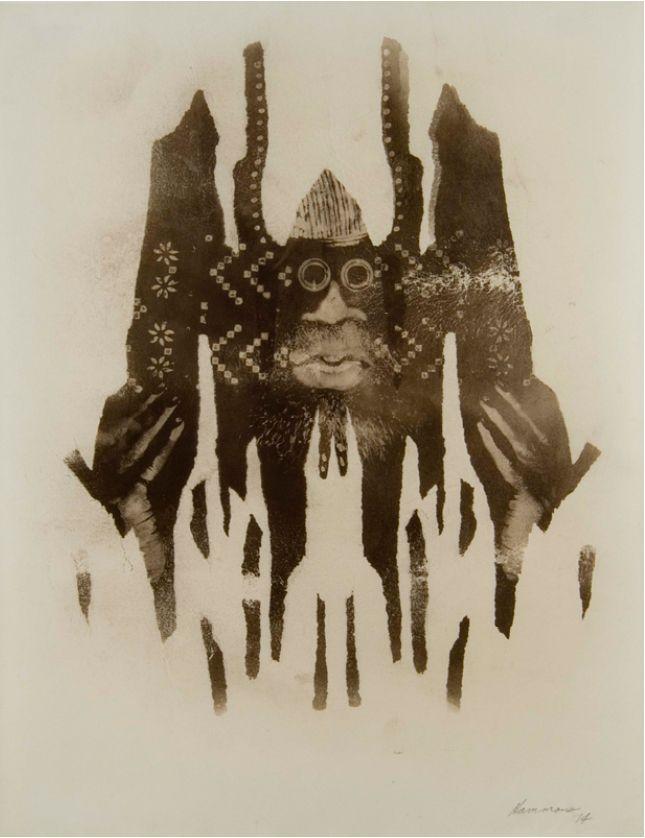 David Hammons, Untitled (Body Print), 1974
