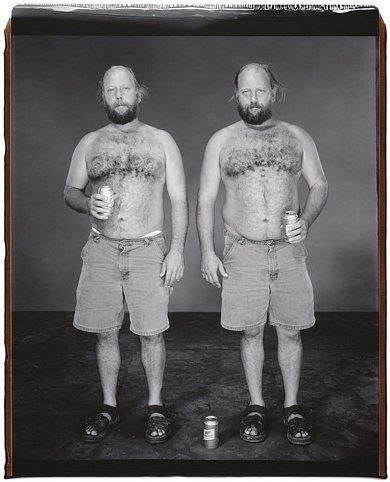 Pete and Art Beardsley (from the Twins Series), 2001, 	Unique polaroid