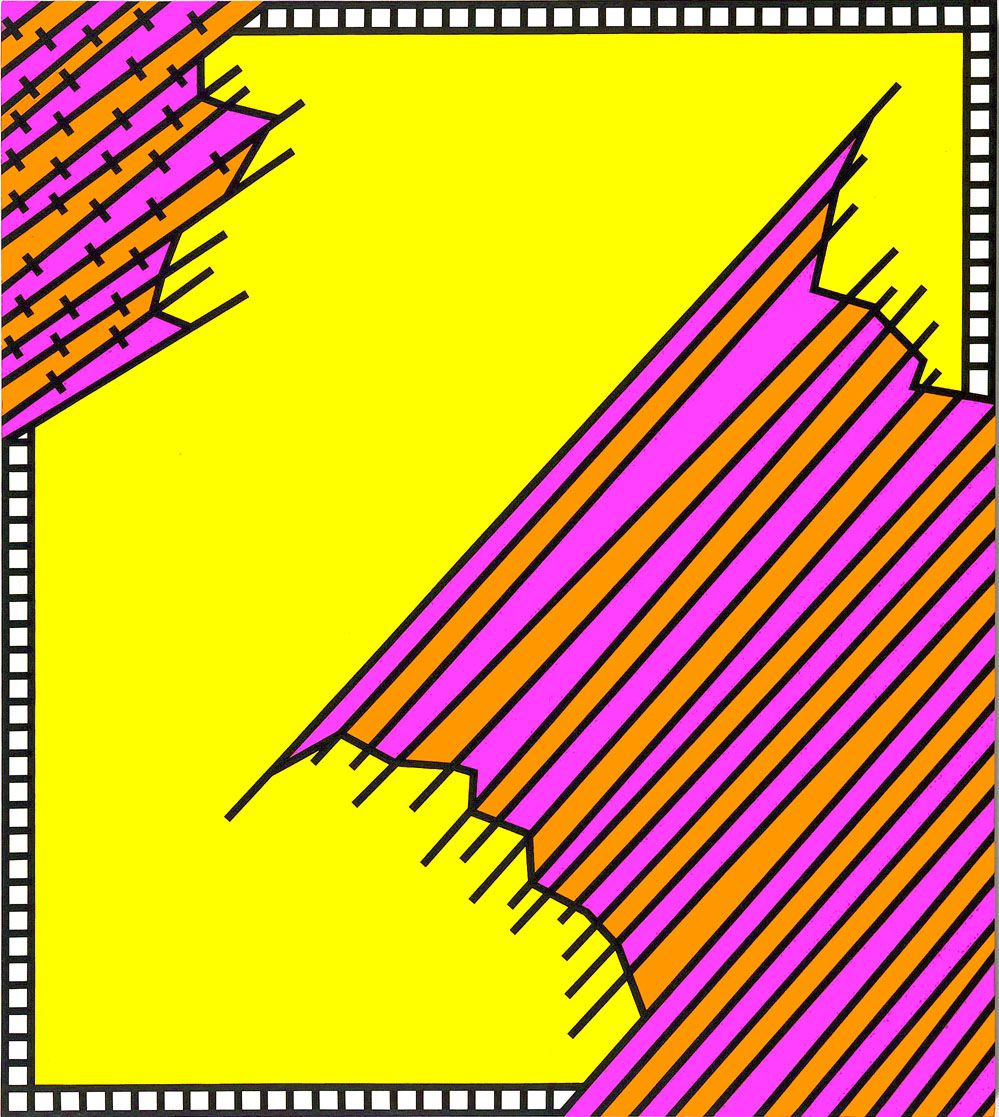 Crossover, 1972, Acrylic on linen