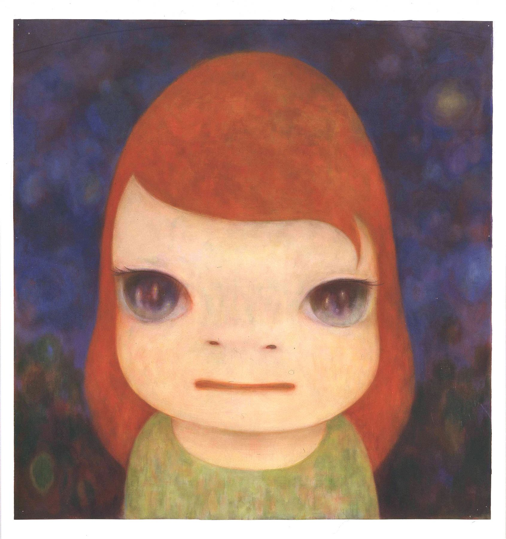 portrait of a girl with red hair by yoshimoto nara