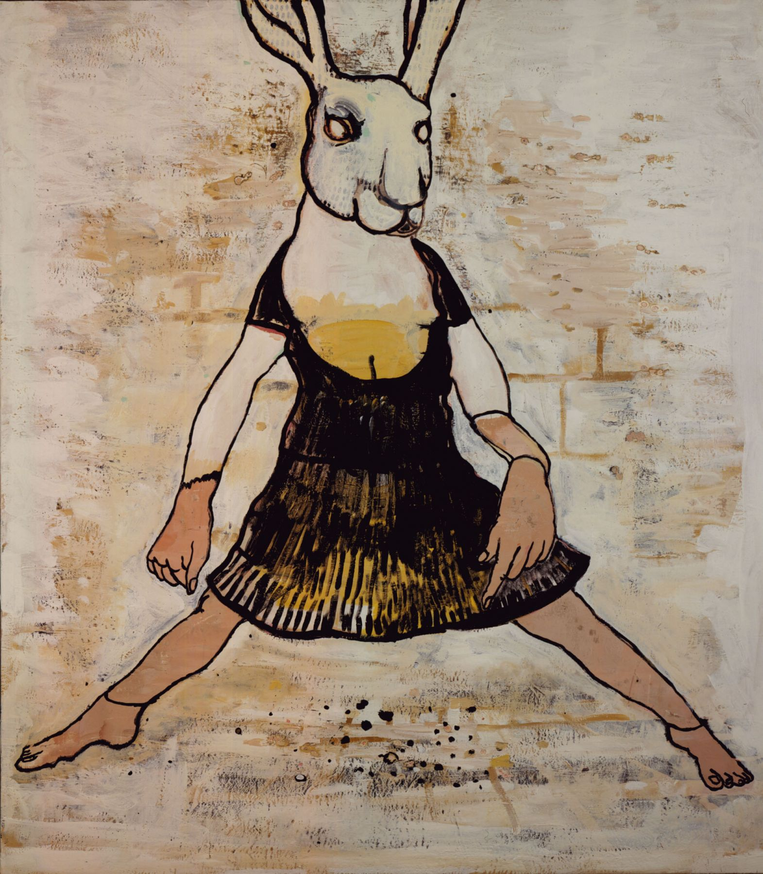 bunny in a dress by hannah van bart