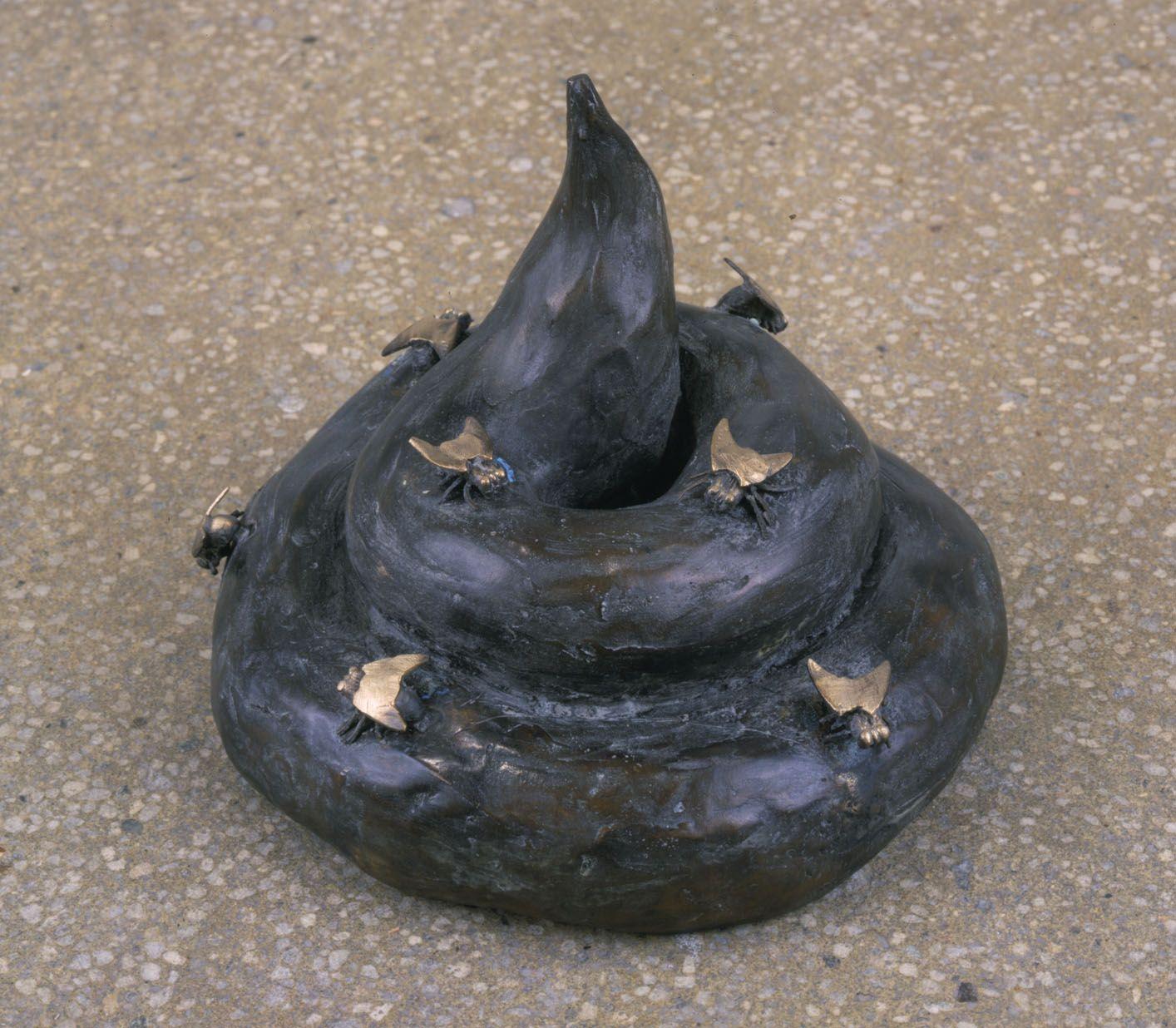 Poop with Flies, 2003, Bronze
