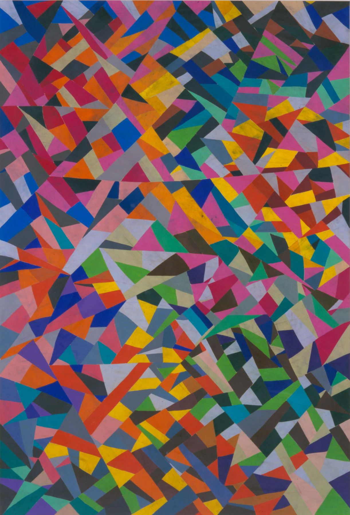 colorful painting with abstract shapes by william j. o'brien
