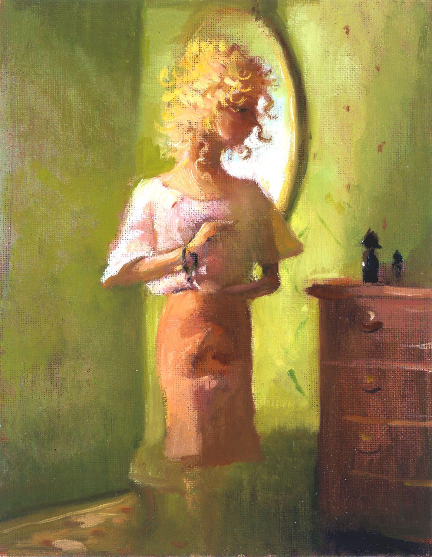 Little Curlie I, 2003, Oil on canvas board