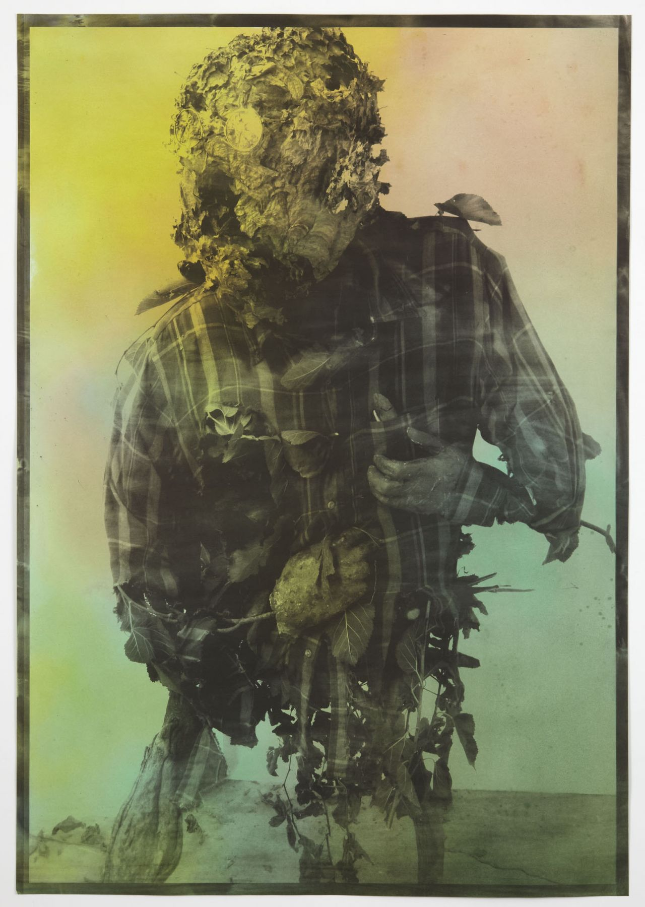 Civilian (Howling), 2010, Hand-dyed palladium print
