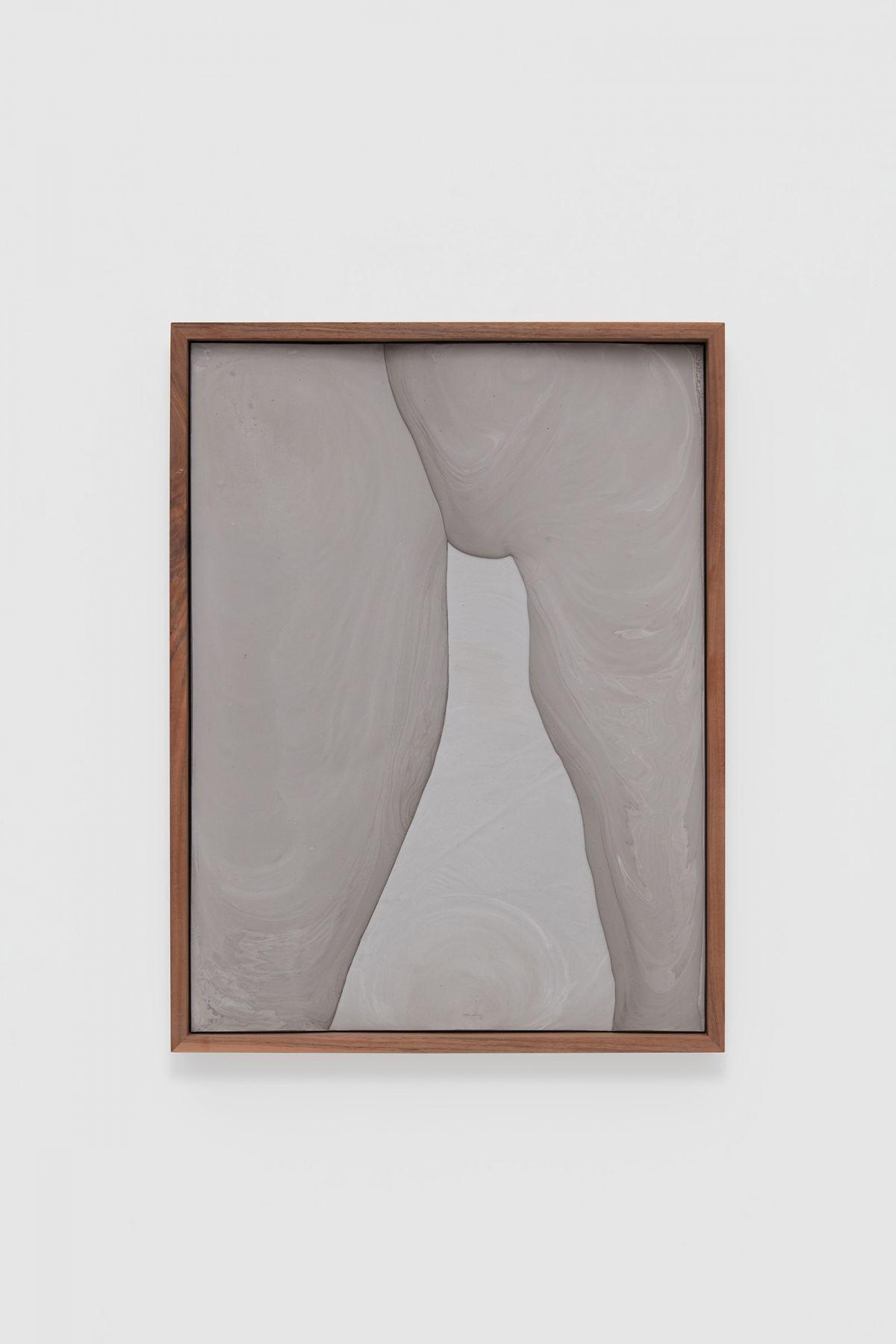 a purplish-grey plaster artwork by contemporary artist anthony pearson