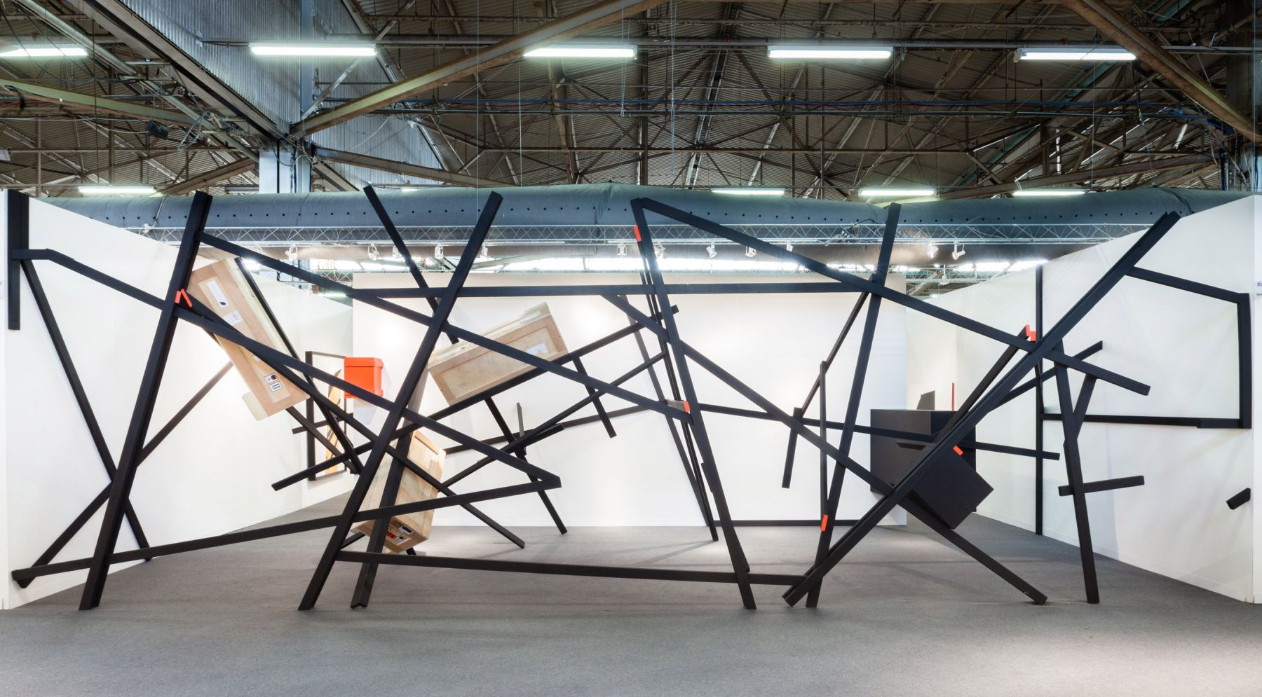 Installation View, The Armory Show 2014,Barricade I, August 7 –September 12, 2014