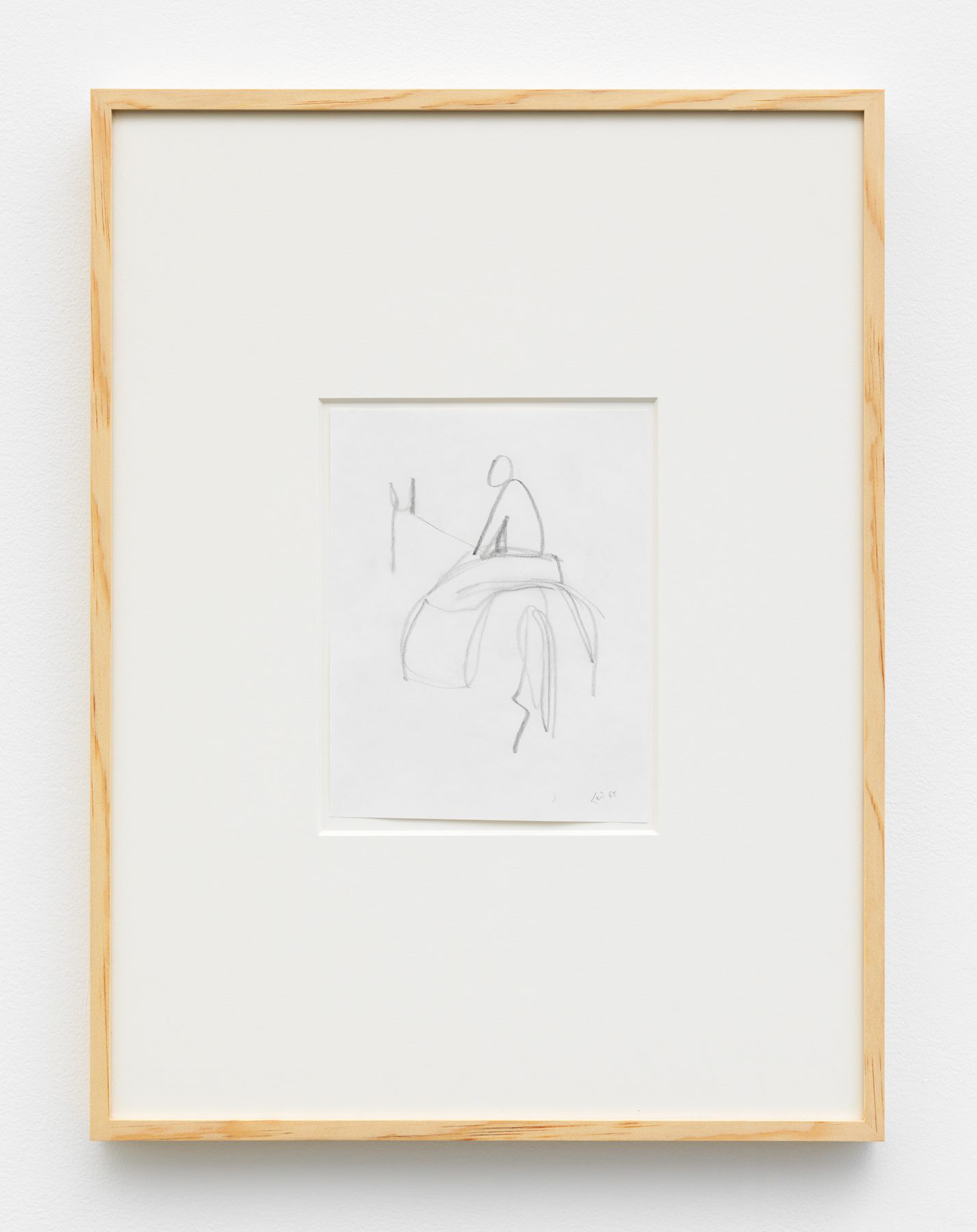 a small drawing on paper by italian artist maria lai for sale at a chelsea gallery