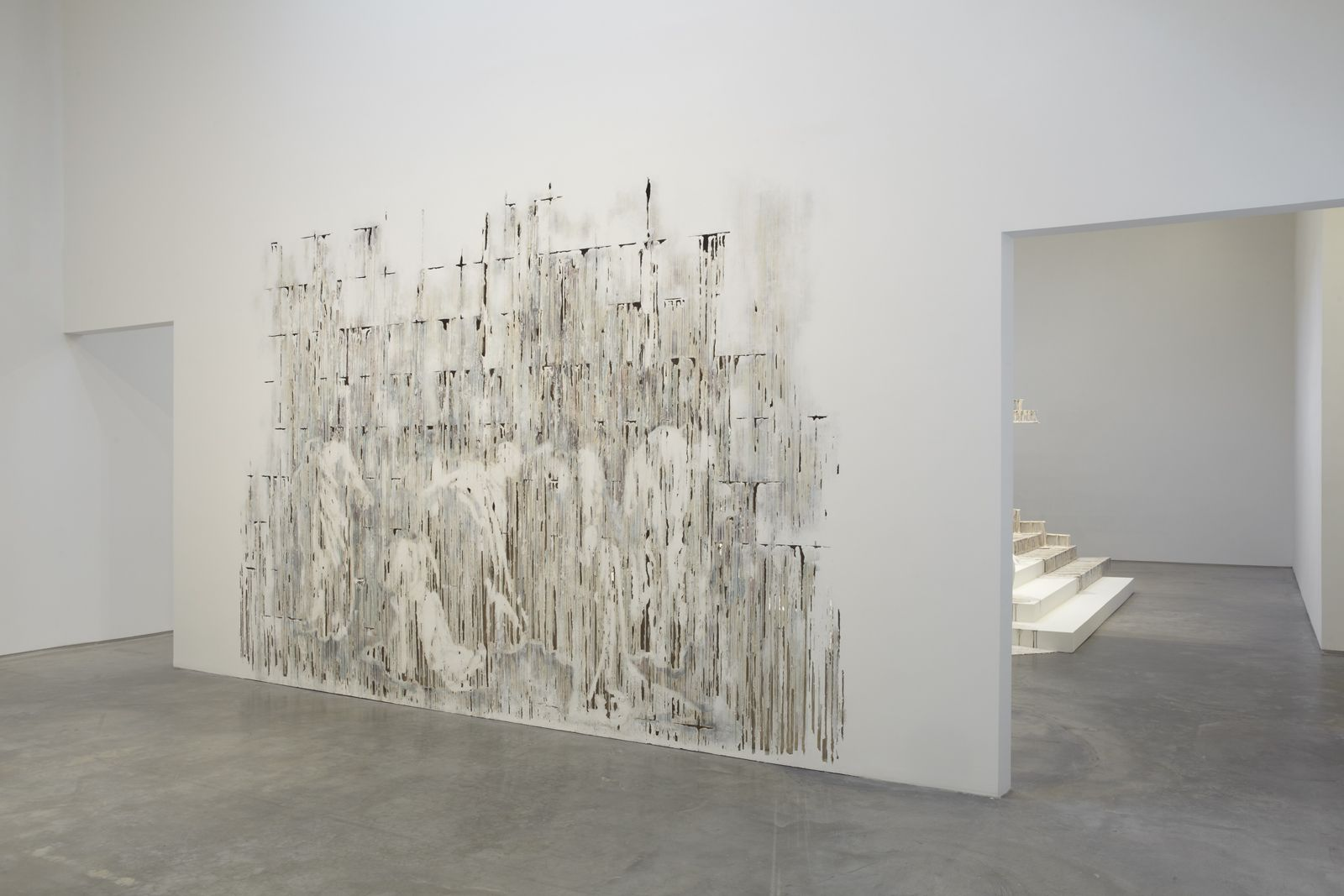 Divided Line, 2012, polymer gypsum, fiberglass, gypsum board, plaster, wood, steel, paint