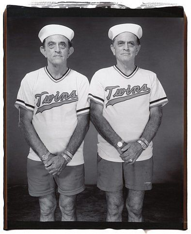 Walter and David Oliver (from the Twins series), 2001, 	Unique polaroid