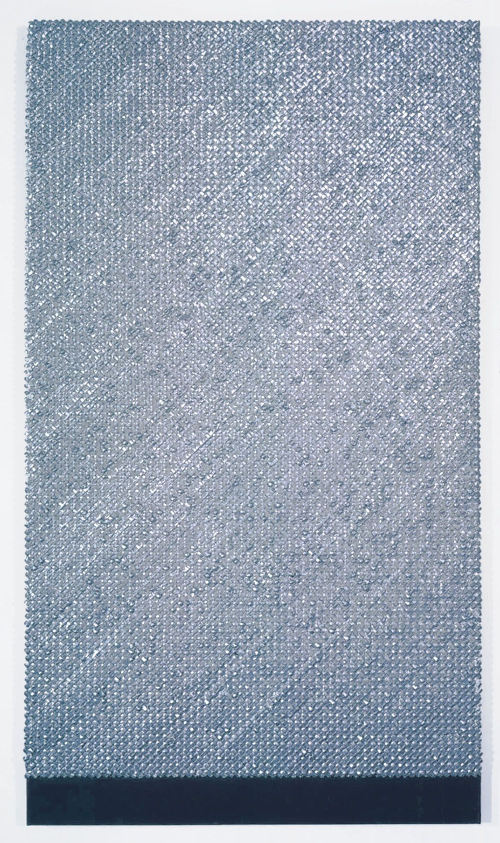 textured grey rectangle by donald moffett
