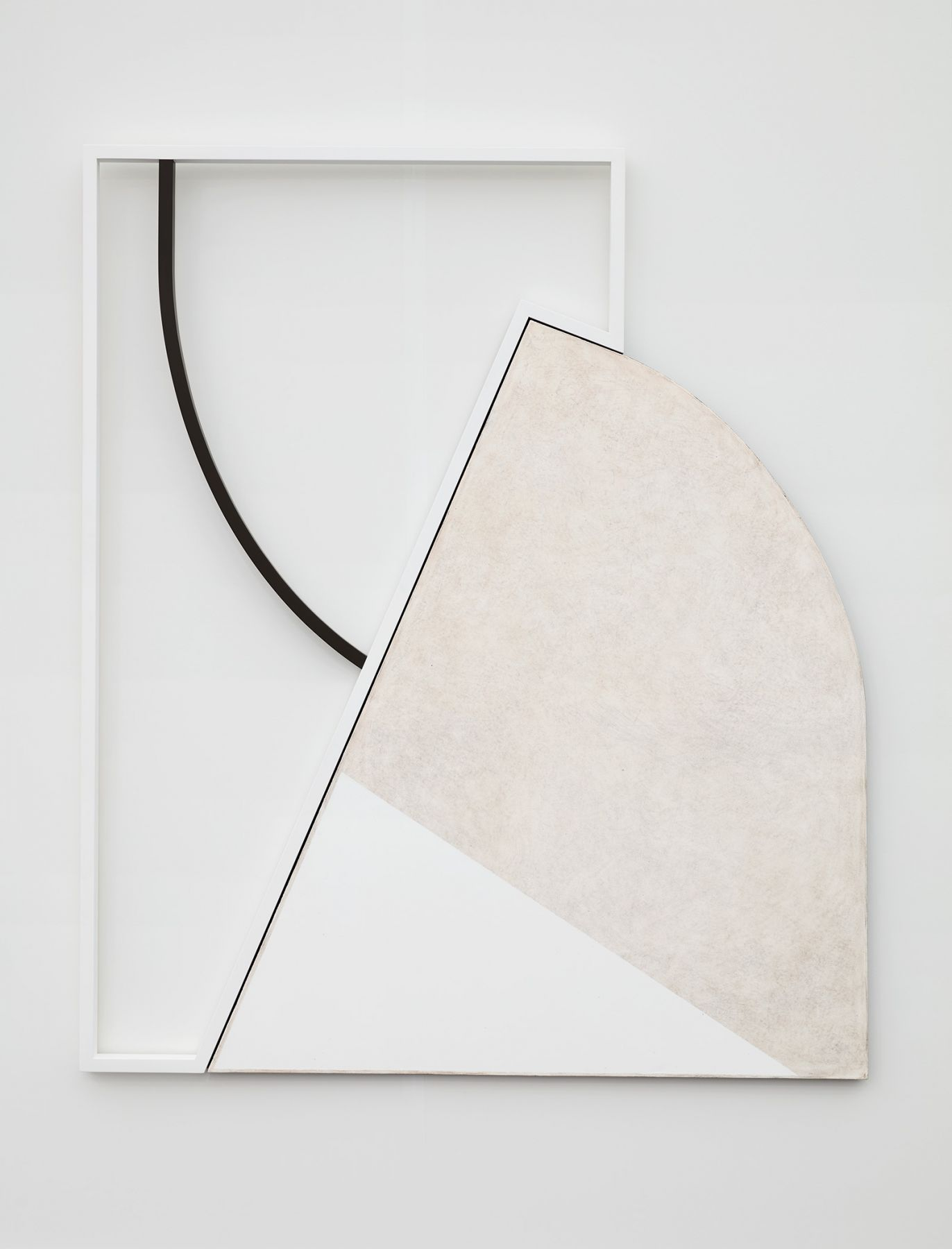 A minimal white painting by Svenja Deininger