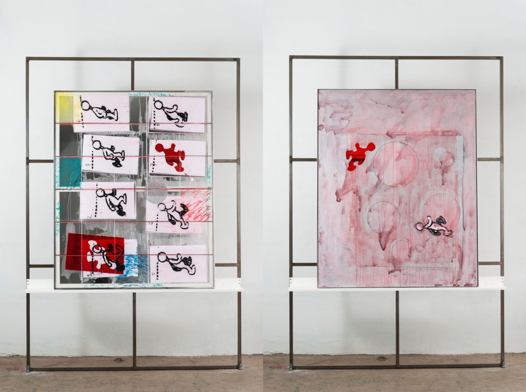 two works in a series by the los angeles based emerging artist dashiell manley