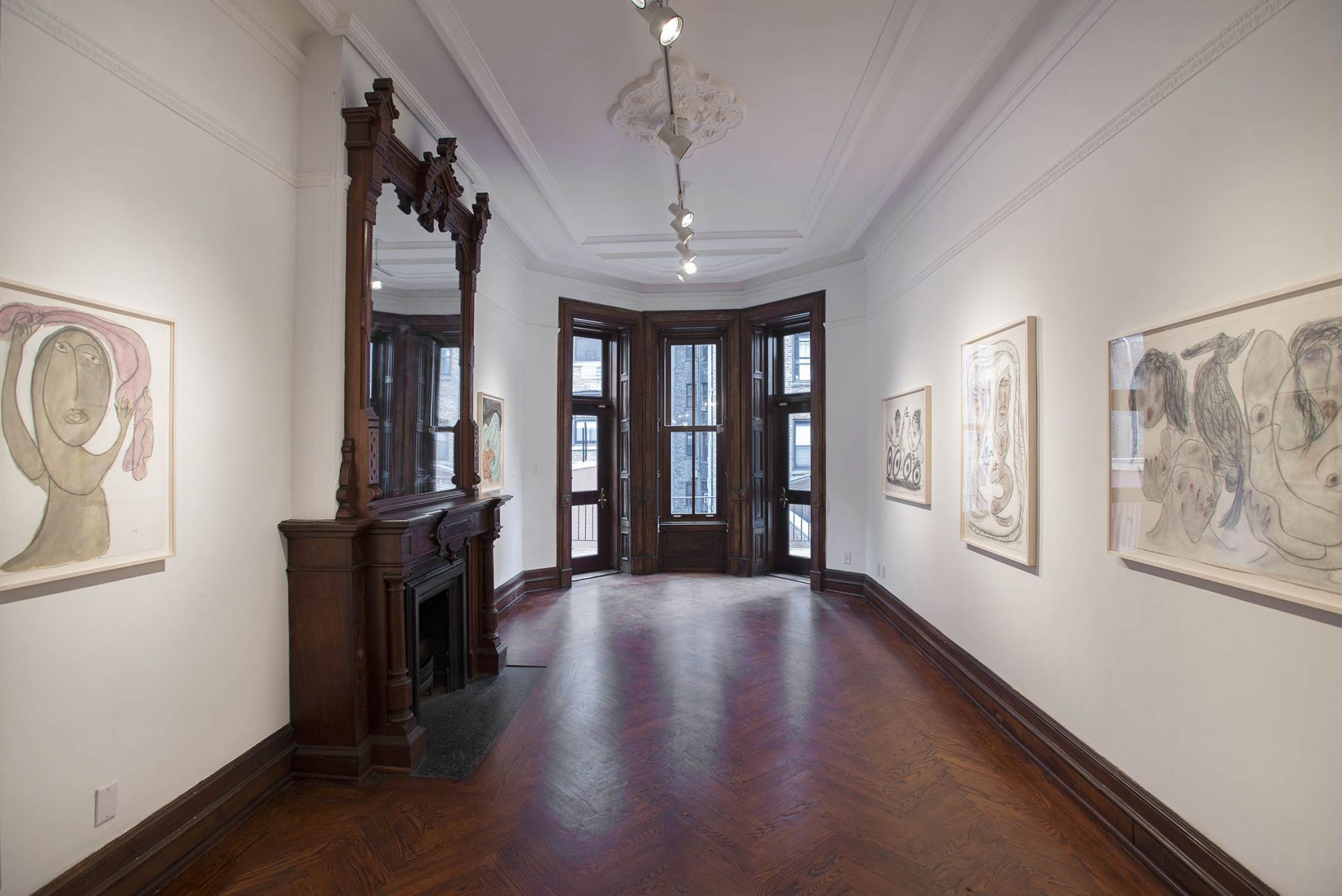 Works on Paper(Installation View), 118 East 64th Street, Uptown, 2015