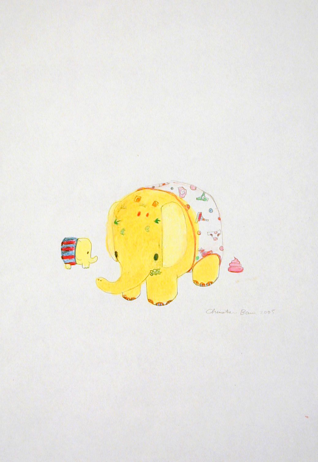 yellow elephant by chinatsu ban