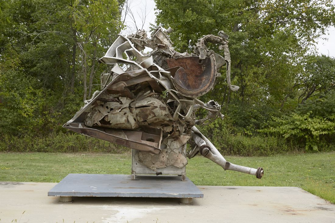 Fishkill, 1995, Cast stainless steel with carbon steel