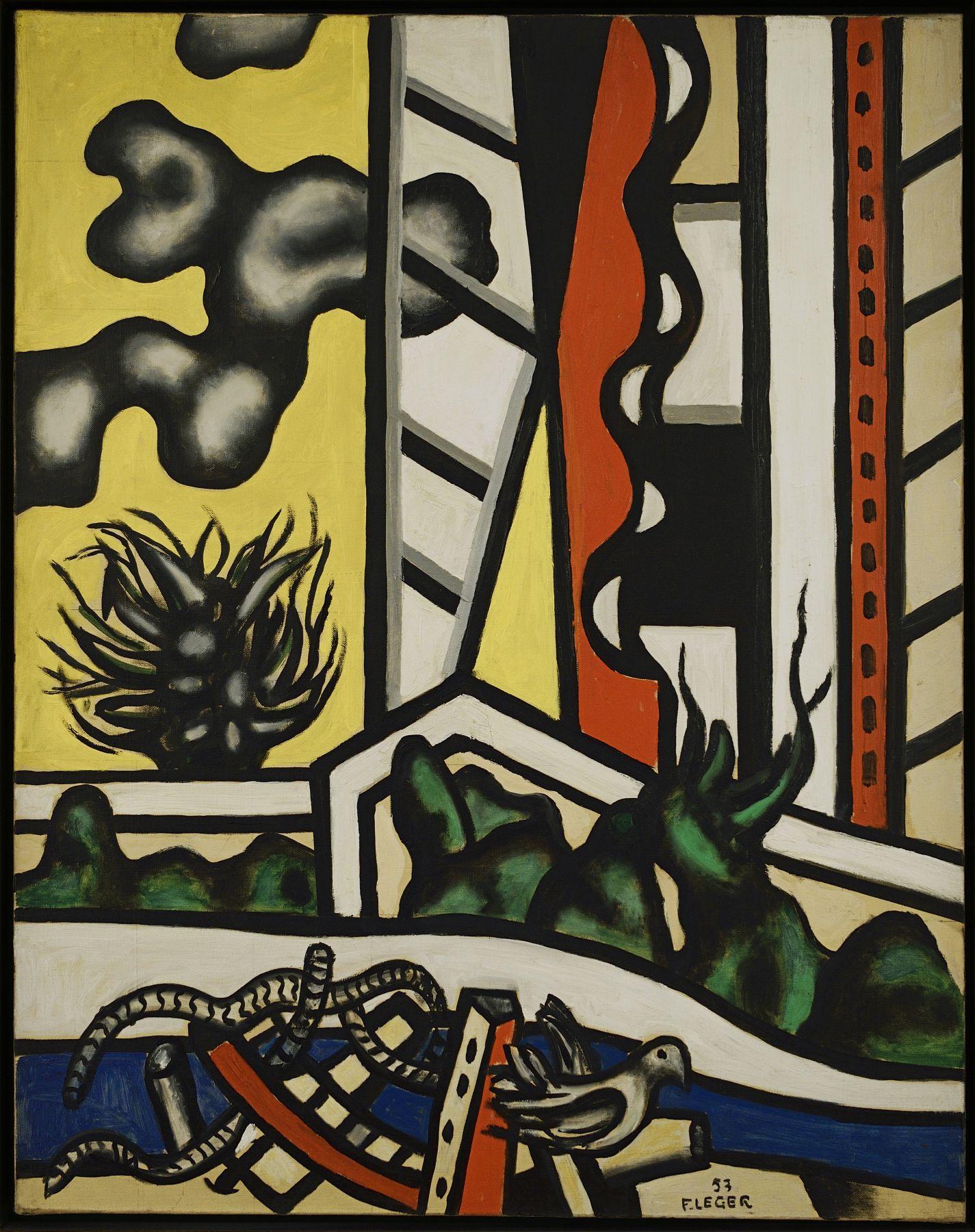 FERNAND LÉGER (French, 1881-1955), Elements mechaniquesdansle paysage,1953