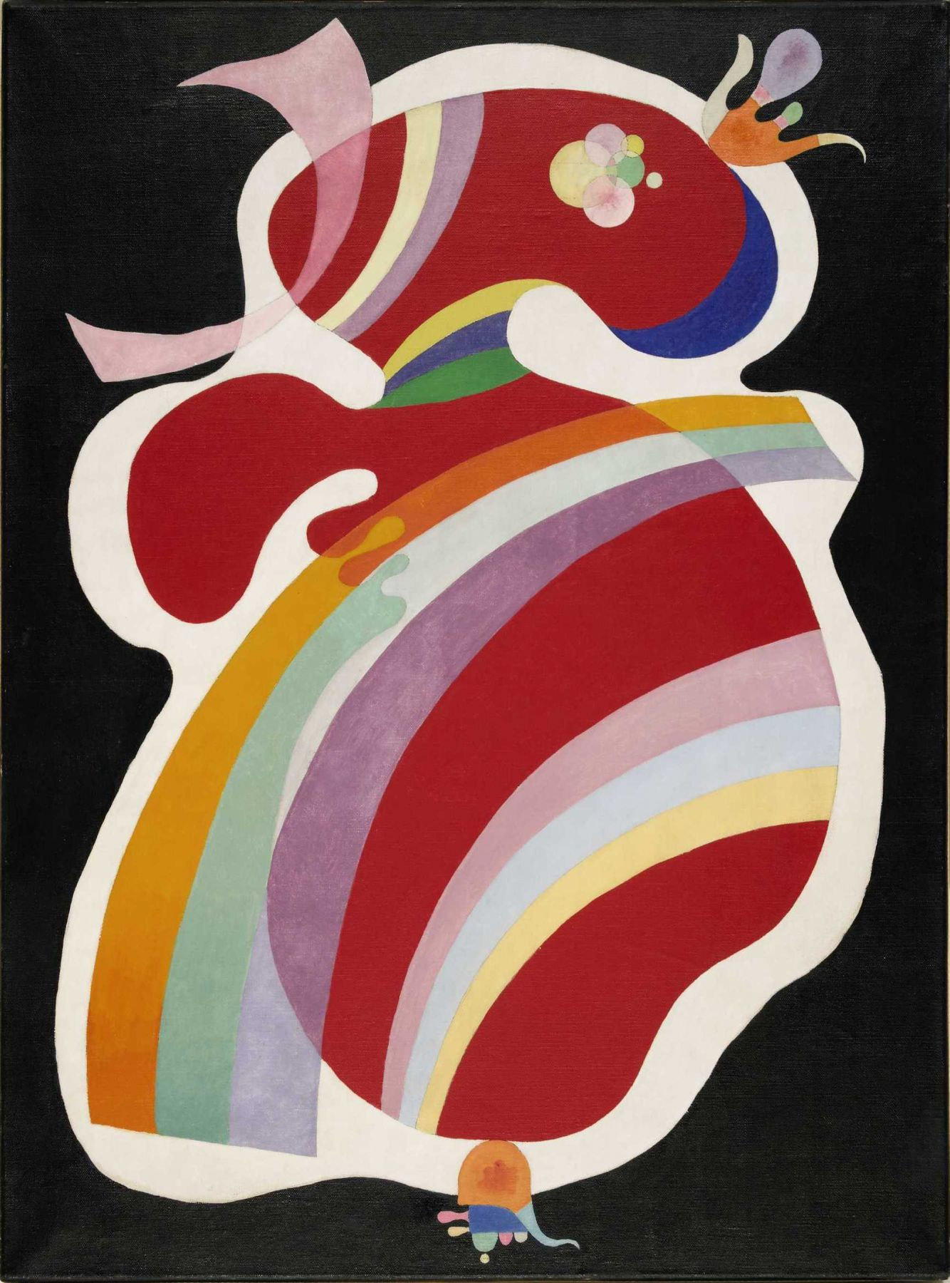 Wassily Kandinsky, La Forme Rouge (Die Rote Form) (Red Form), 1938. Oil on canvas 82 x 60 cm. (32.3 x 23.6 in.) ©Helly Nahmad Gallery NY