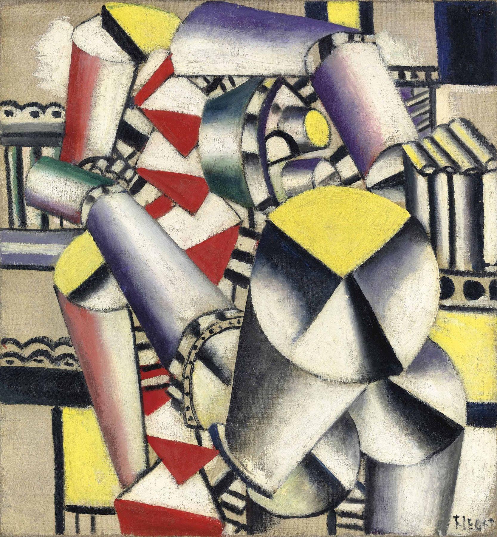 Fernand Leger, Les Cylindres Colorés, 1918