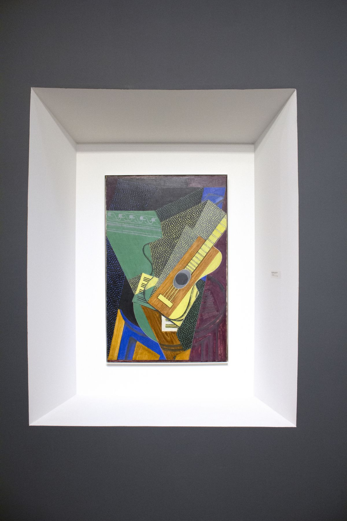 Installation view of The Climax of Cubism, booth 301 at TEFAF Spring 2019. ©Helly Nahmad Gallery NY. Photography by Studio MDA. This photo features a painting by Juan gris, Guitare sur une Table, 1916