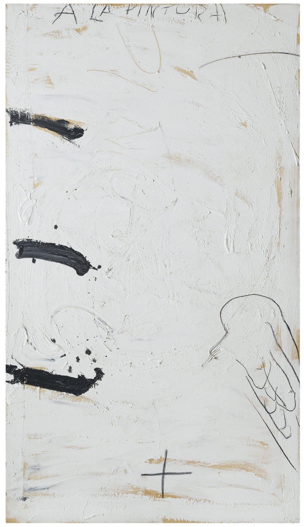 Antoni Tàpies, A la pintura, 1989