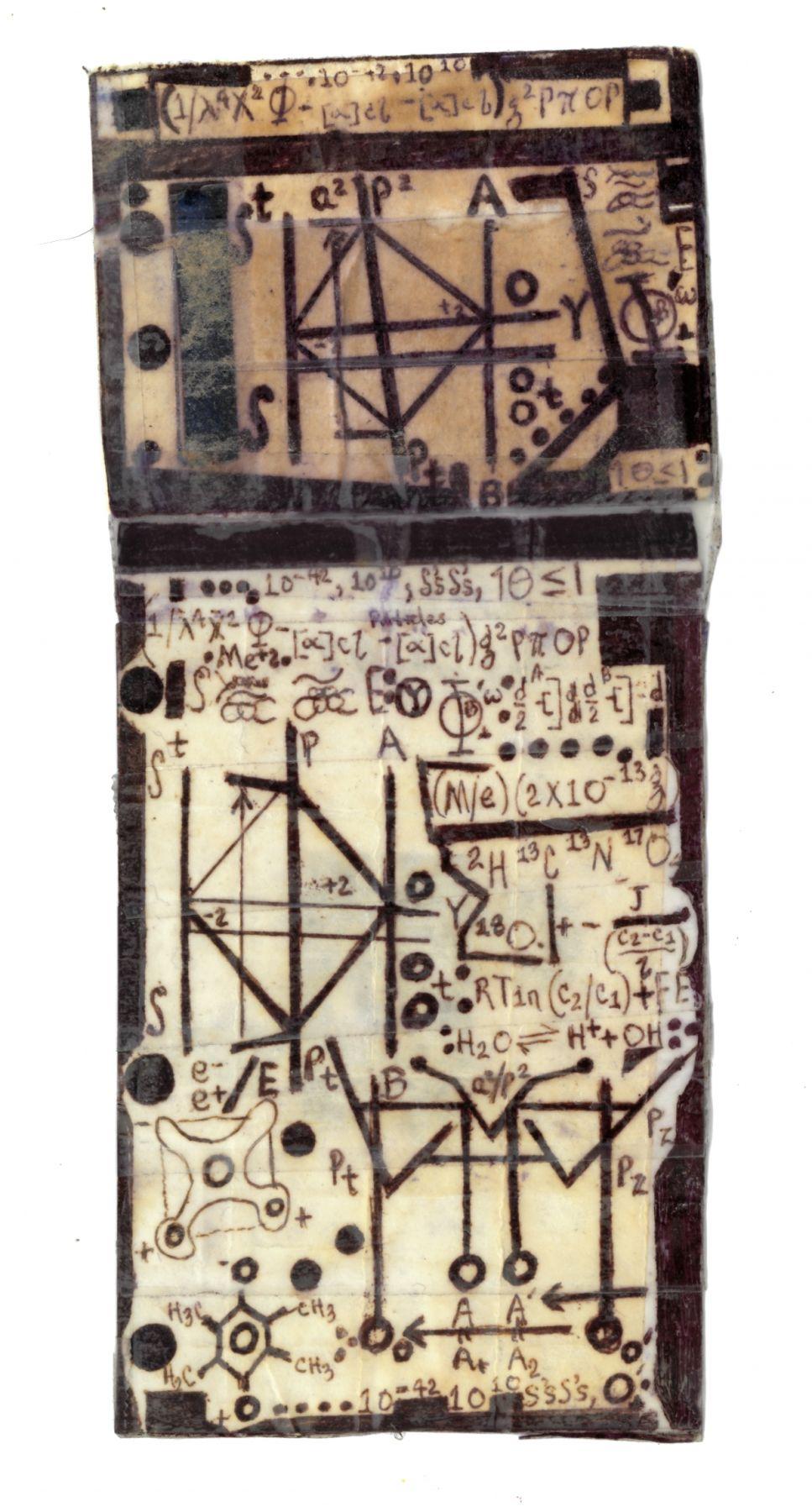 Institu,n.d., Ballpoint pen on paper with Scotch tape