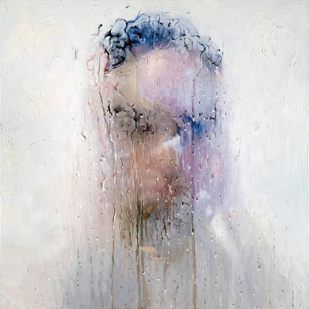 alyssa monks, Deaf (SOLD), 2018, oil on linen, 30 x 30 inches