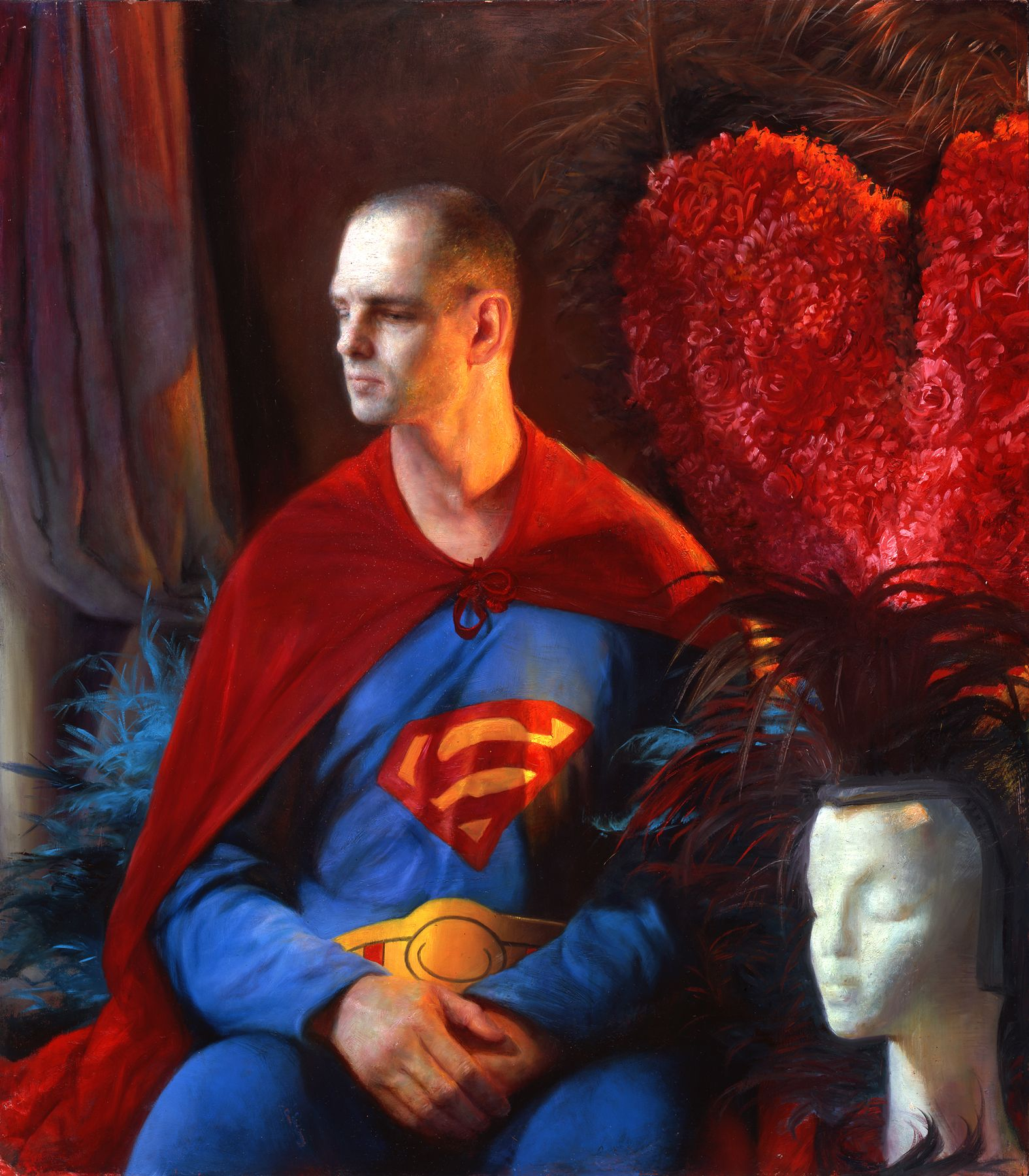Steven Assael, Untitled (Superman) (SOLD), 2006, oil on canvas, 40 x 30 inches