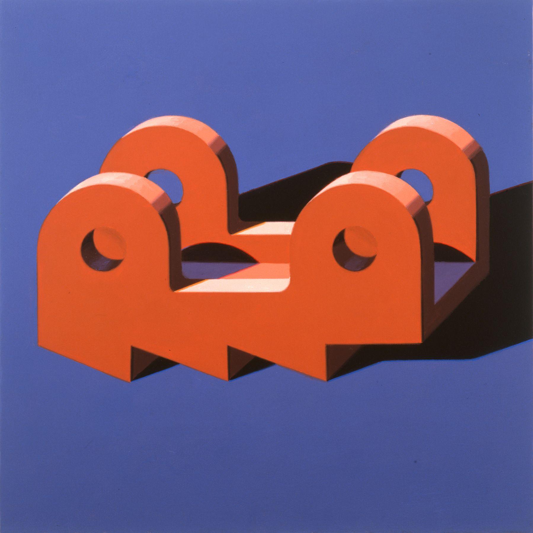 Robert Cottingham, Component IXX, 2005, gouache on paper, 5 1/2 x 5 1/2 inches