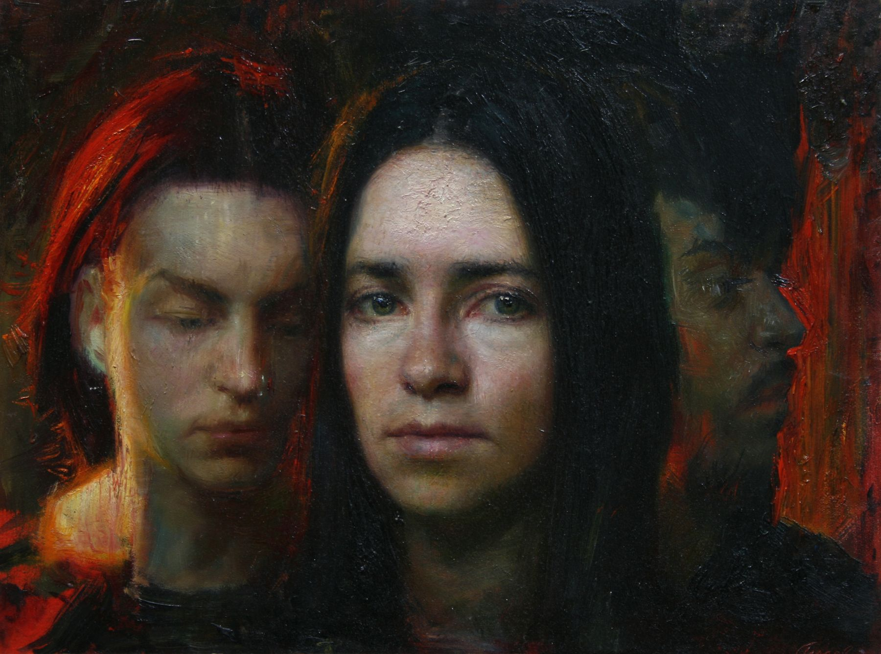 Steven Assael, Female Portrait, 2008, oil on canvas, 12 x 16 inches