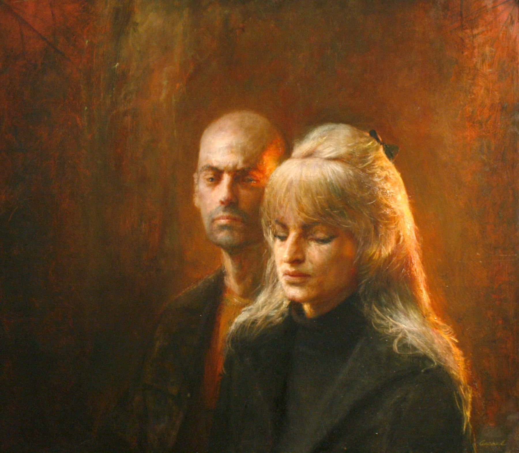 Steven Assael, Elena and Mark, 2008, oil on panel, 33 1/2 x 38 inches