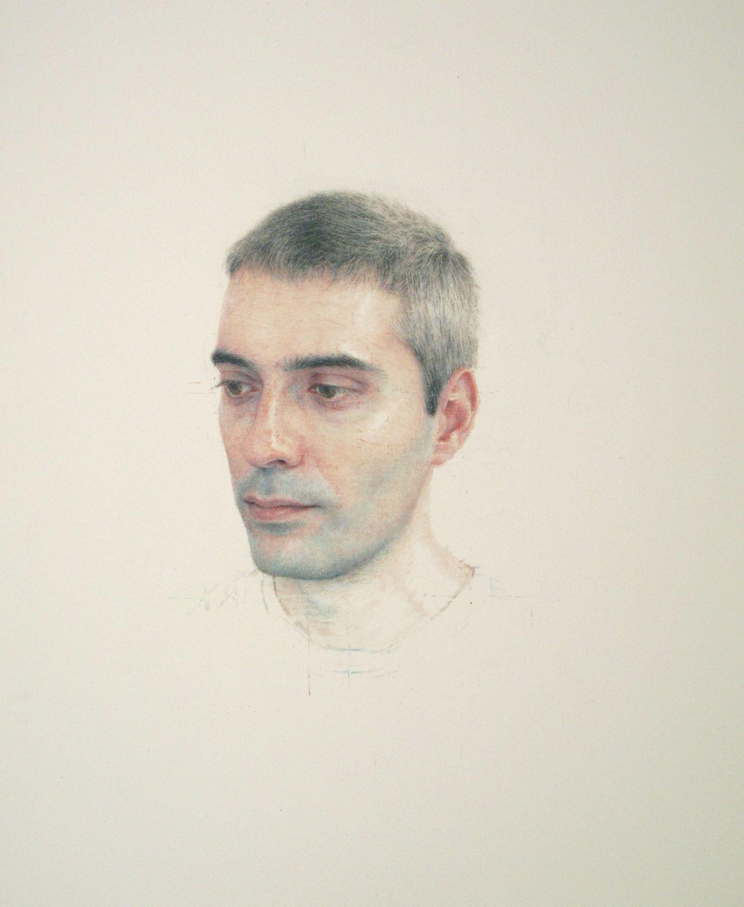 Robert Bauer, Joan Martinez Cuerva (SOLD), 2013, tempera on paper, 12 1/4 x 10 inches
