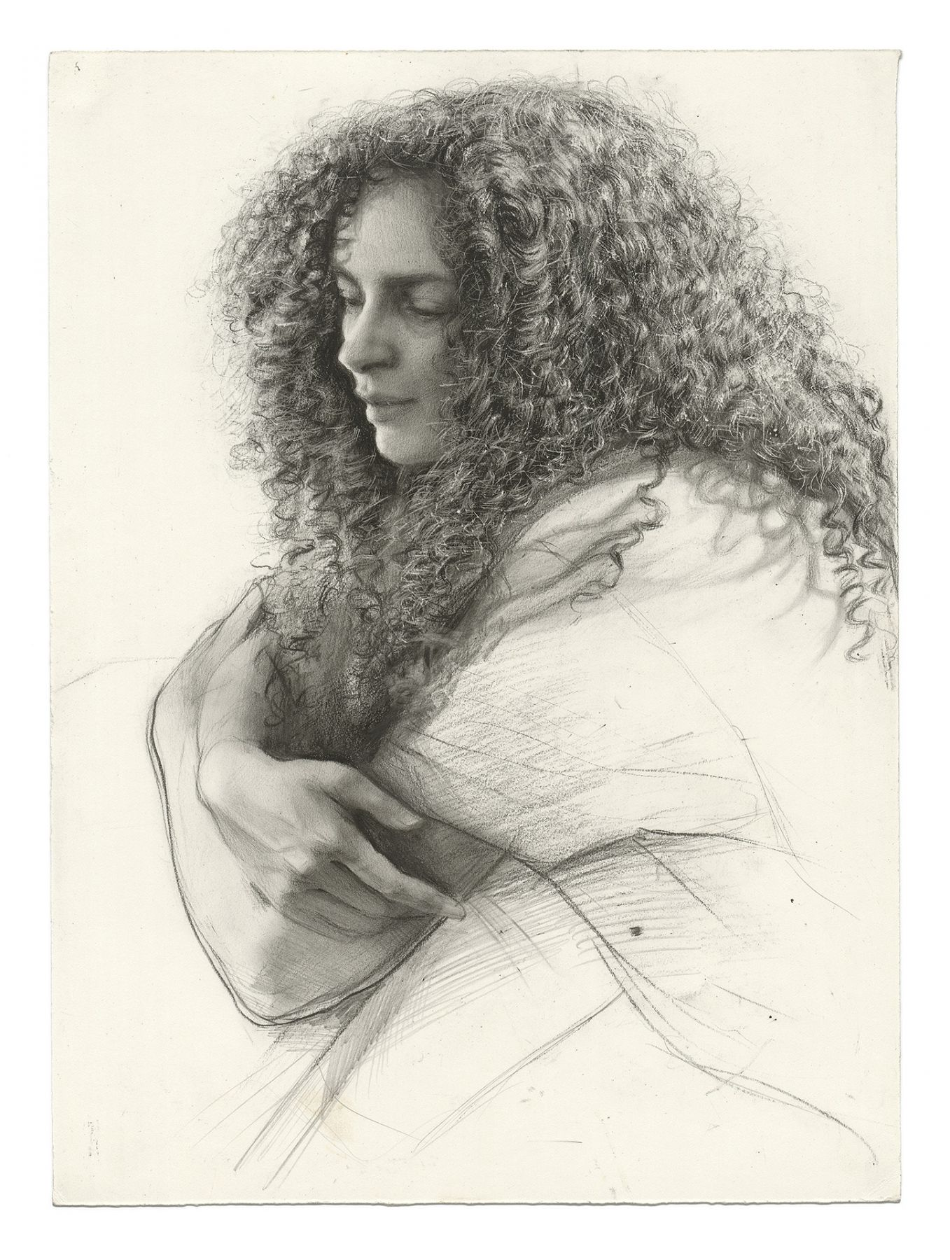 Steven Assael, Ava (SOLD), 2008, graphite on paper, 13 1/2 x 10 inches